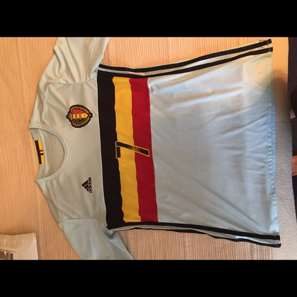 watch 6478f db75b Adidas 2016 Euro Belgium De Bruyne away jersey